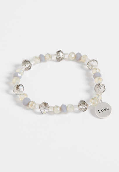 love pendant stretch bracelet