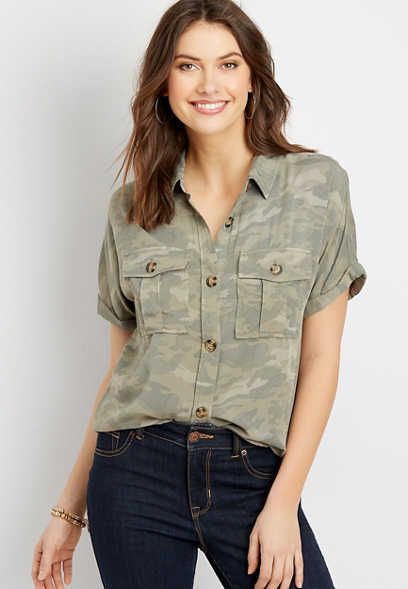 Camo Short Sleeve Utility Shirt
