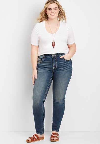 Plus Size Vigoss® High Rise Stacked Waist Skinny Jean