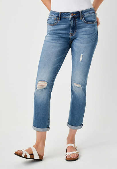 Vigoss® Classic Destructed Cropped Jean