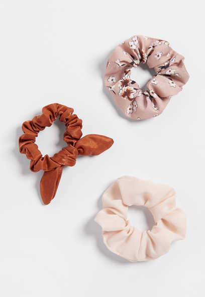 3 pack mix scrunchie set
