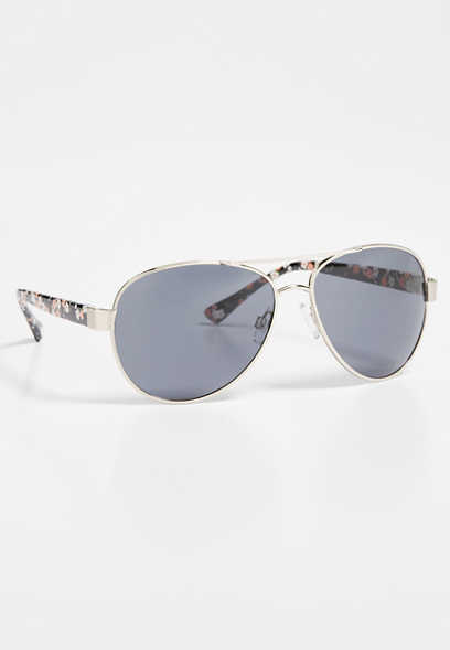floral side aviator sunglasses