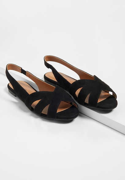 Giana Peep Toe Flat
