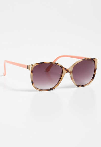 colorblock cat eye sunglasses