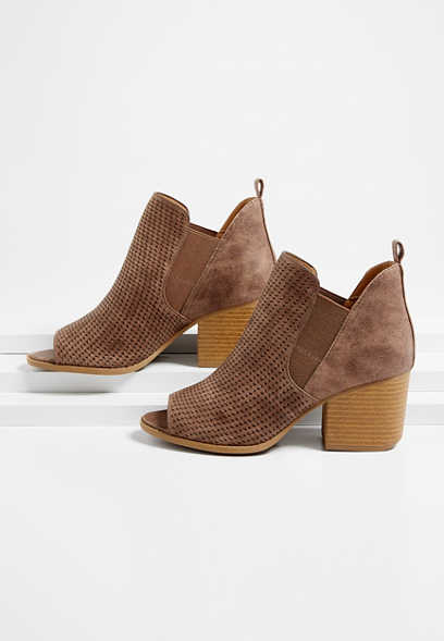 Naomi Perforated Bootie