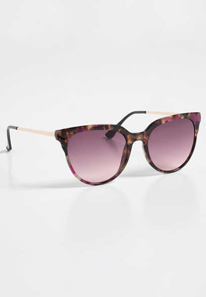 Colored Tortoise Wayfarer Sunglasses