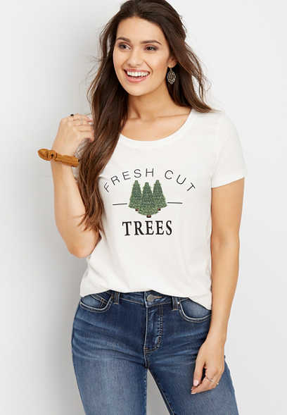 fresh cut trees graphic tee