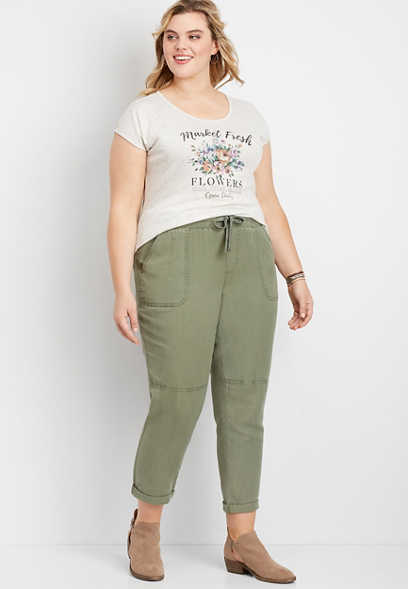 Plus Size Pull On Weekender Pant