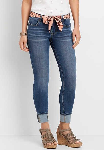 DenimFlex™ Dark Wash Belted Jegging