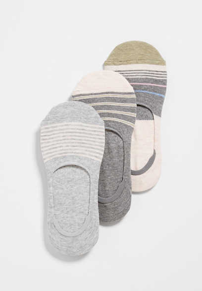 3 Pack Stripe Skimmer Socks