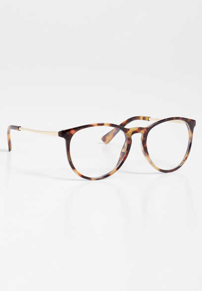 Tortoise Blue Light Lens Round Glasses