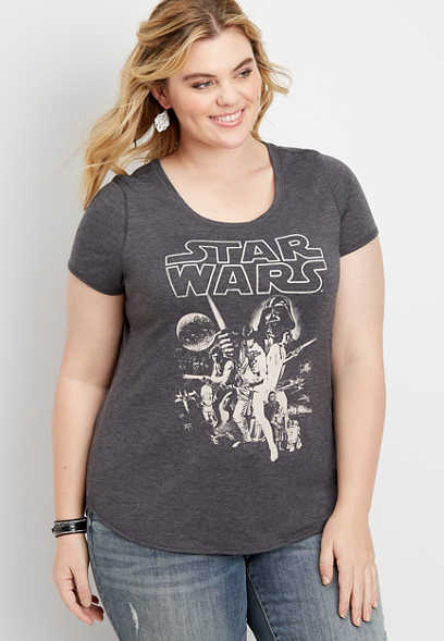 plus size Star Wars graphic tee
