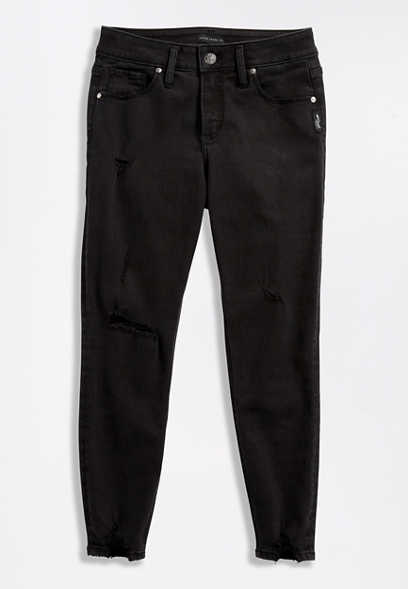 Silver Jeans Co.® Avery High Black Destructed Cropped Jean
