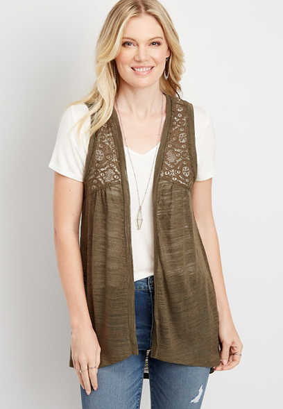 Grommet Lace Up Back Vest
