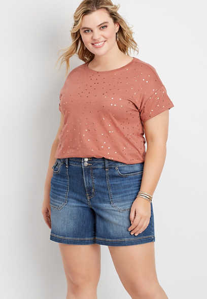 Plus Size DenimFlex™ 6in Utility Short