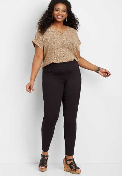 plus size super stretch twill skinny ankle pant