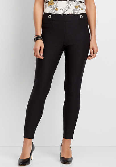 Luxe Bengaline Skinny Ankle Pant