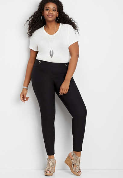 Plus Size Luxe Bengaline Skinny Ankle Pant