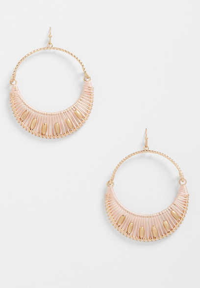 threaded half hoop earrings