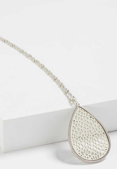 ivory teardrop necklace
