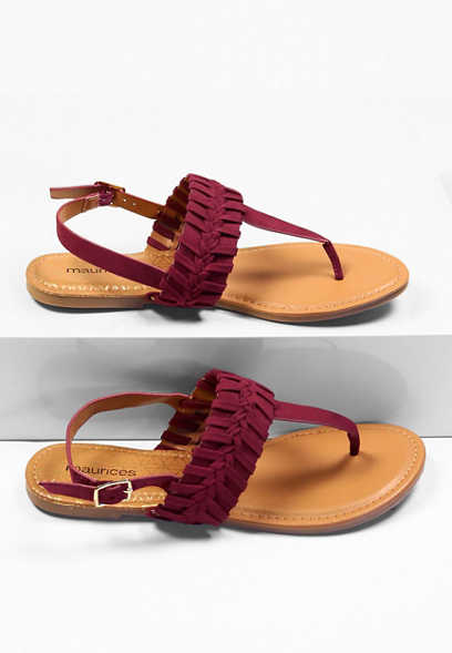 Maurices Phoebe Braided Flat Sandal