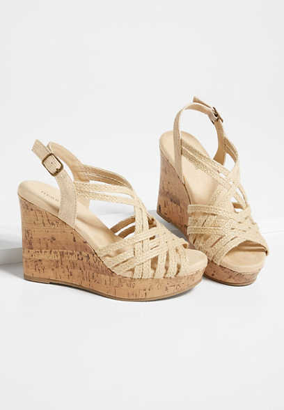 Helen Strappy Wedge Sandal