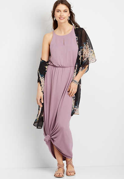 Solid Maxi Dress