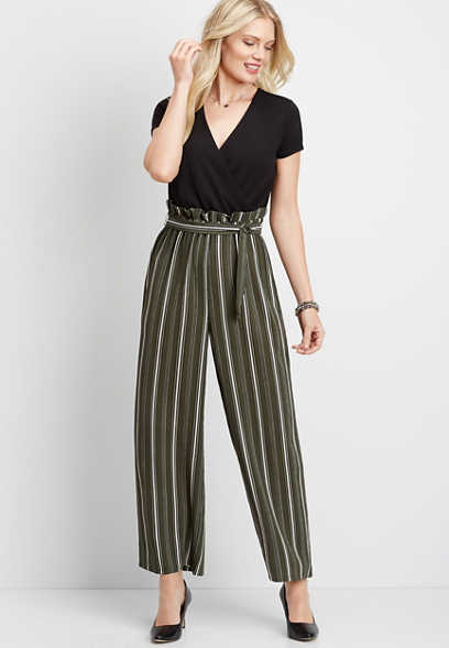 Stripe Paperbag Jumpsuit