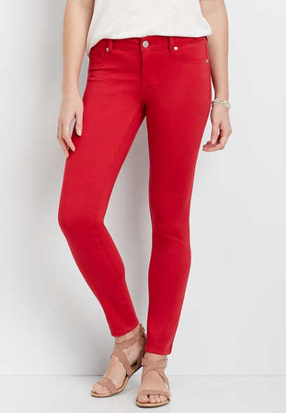 DenimFlex™ Red Color Jegging