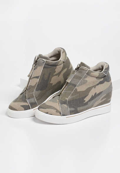Ginger Camo Wedge Sneaker