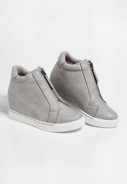 Ginger Front Zip Wedge Sneaker