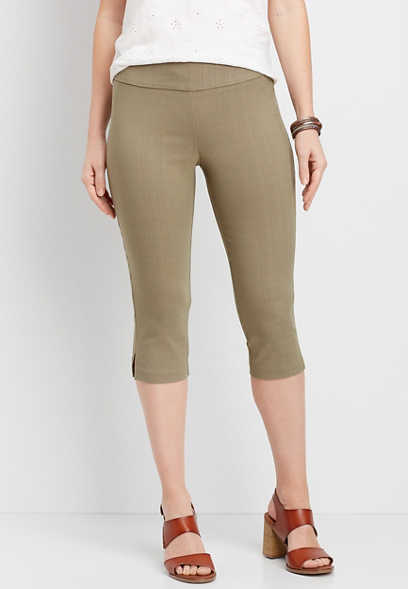 pull on bengaline pedal pusher pant