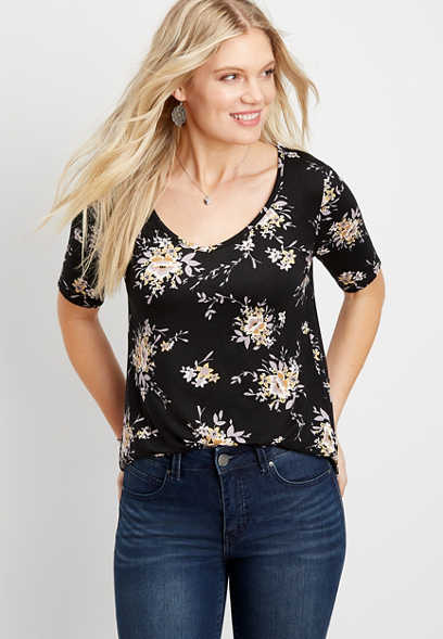 24/7 Flawless floral tee
