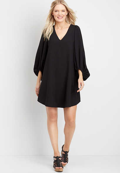 Blouson Sleeve Shift Dress