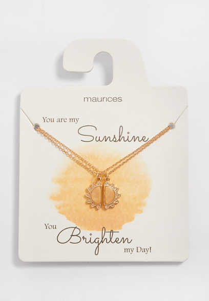 Dainty 2 Piece Sunshine Necklace