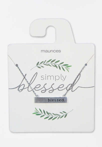 Dainty Blessed Necklace
