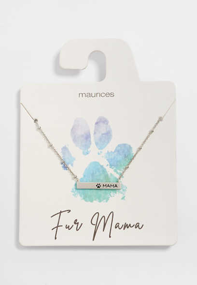 Dainty Fur Mama Necklace