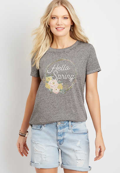 spring graphic tee