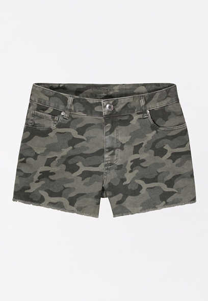 Vintage High Rise Camo 3.5in Short