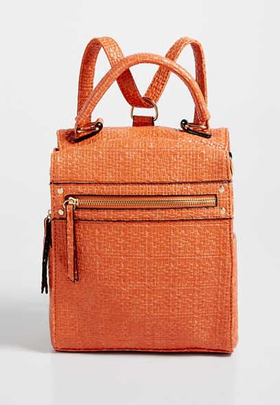 Textured Convertible Backpack