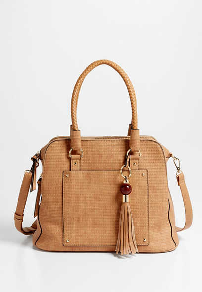 Textured Braided Satchel