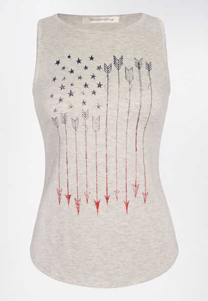Arrow American Flag Graphic Tank Top