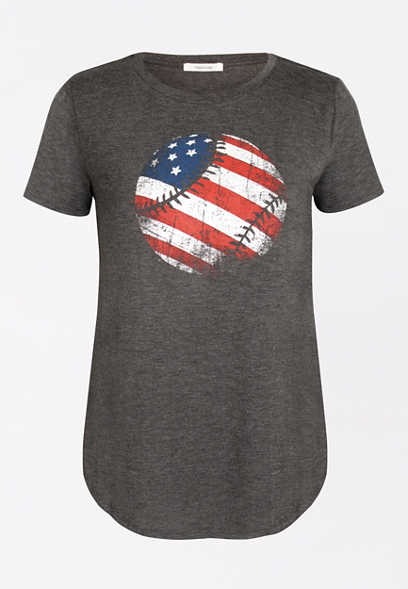 American Flag Baseball Graphic Tee