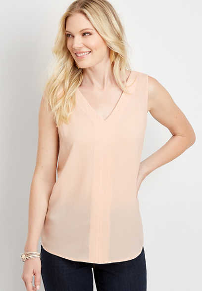 Light Pink Bar Back Tank Top
