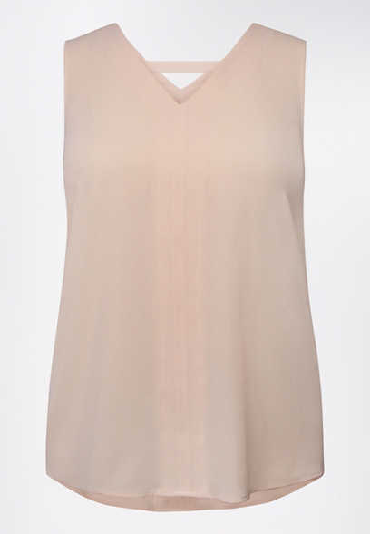 Plus Size Light Pink Bar Back Tank Top
