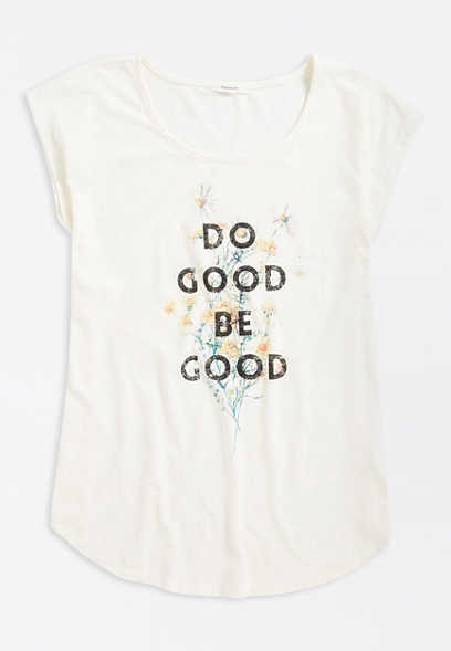 White Do Good Be Good Graphic Tee