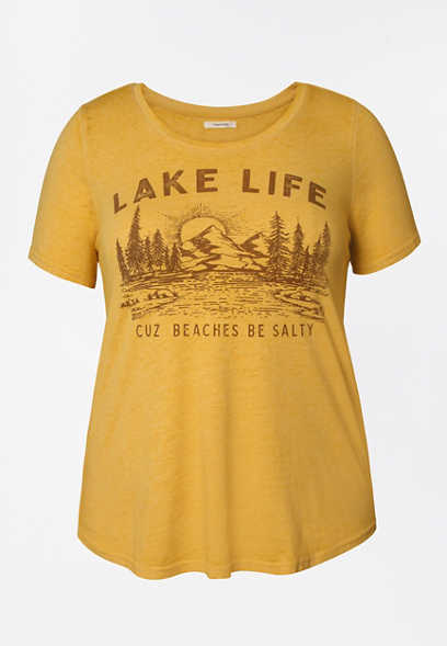 Plus Size Lake Life Graphic Tee