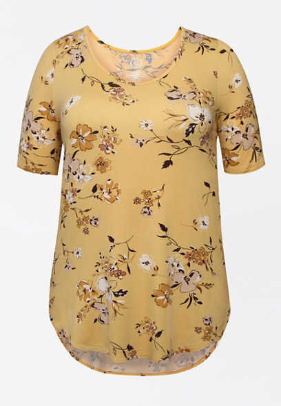 Plus Size 24/7 Flawless Floral Tee