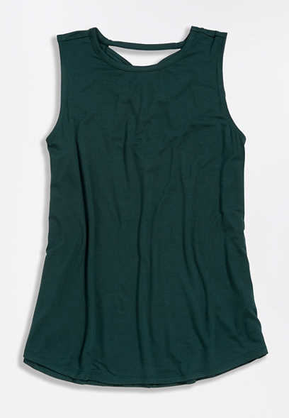 24/7 Solid Strappy Back Tank Top