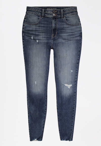 DenimFlex™ Super High Rise Dark Stacked Waist Jegging